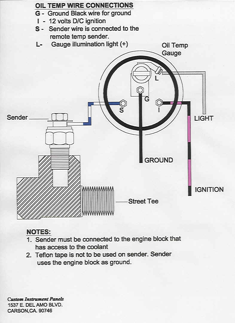 Oil_Temp_Gauge_install tech shop electric oil pressure gauge wiring diagram at panicattacktreatment.co